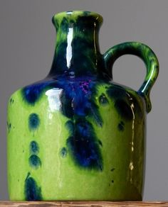 Fabulous MAREI 4300 Green Vase from West German Pottery
