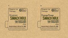 East Side Industries' body care line, Eastside Essentials - design for organic lip balm label: mock-up for print on Kraft paper