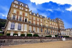 Once a luxury hotel now apartments on the beach of Trouville-sur-Mer