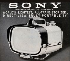 Sony, portable television TV-8-301, 1959. Japan.... - Design is fine. History is mine.