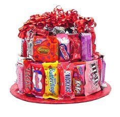 Valentine gift idea - Candy Bar Cake