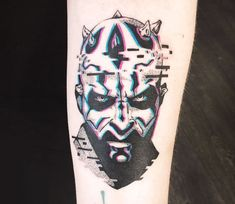 Darth Maul from Star Wars, perfect contemporary tattoo artwork done by tattoo artist Damian Orawiec Tv Tattoo, Star Wars Tattoo, Star Wars Quotes, Star Wars Humor, Darth Maul Tattoo, Star Wars Facts, Star Wars Images, Star Wars Wallpaper, World Tattoo