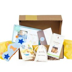 "Birthday Box. ""We hope the party goodies in this box will make your baby's birthday even more special."" Use code PINTEREST for 40% OFF off your 1st box."
