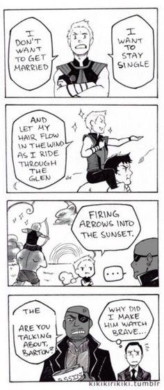 Hawkeye watches Brave