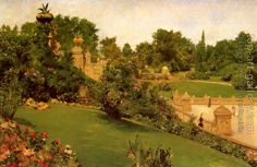 William Merritt Chase : Terrace at the Mall