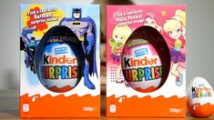 Two BIG Kinder Easter Edition Eggs: BatMan and Polly Pocket Surprise Eggs  Kinder Surprise Easter Edition: BatMan and Polly