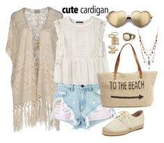 """""""Cute spring cardigan"""" by gold-candle23 ❤ liked on Polyvore featuring Vero Moda, Betsey Johnson, Alexander Wang, Violeta by Mango, Wildfox, Straw Studios, Joie and Topshop"""
