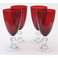 @Overstock - A curvaceous glass is topped by a ruby red hue in the design of these goblets from Certified International. The set comes with eight 16-ounce glasses.http://www.overstock.com/Home-Garden/Certified-International-Ruby-16-oz-Goblets-Set-of-8/4302533/product.html?CID=214117 $56.49