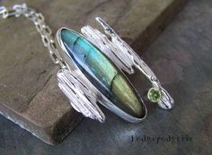 Labradorite and Sterling Silver Artisan Necklace by hodgepodgerie2, $184.00