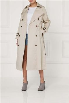 Shop for Neutral Oversized Trench Jacket at Next Ireland. International  shipping and returns available. 647e45e87d