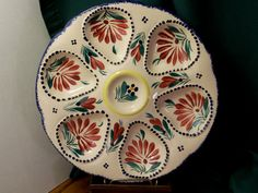 Quimper Faience Oyster Plate