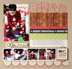 Believe Layout from This & That Christmas Collection. #echoparkpaper