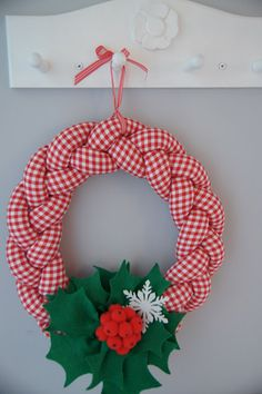 christmas diy                                                                                                                                                                                 More Christmas Makes, Christmas Toys, Christmas 2019, Handmade Christmas, Christmas Wreaths, Christmas Decorations, Christmas Ornaments, Wreath Crafts, Diy And Crafts