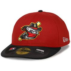 buy online 43a1c eba33 Men s Quad Cities River Bandits New Era Red Black Low Crown Diamond Era  59FIFTY Fitted Hat