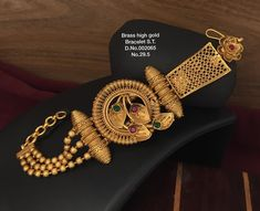Antique Jewellery Designs, Fancy Jewellery, Gold Jewellery Design, Gold Jewelry, Gold Necklace, Bangle Bracelets With Charms, Gold Plated Bracelets, Bracelet Designs, Necklace Designs