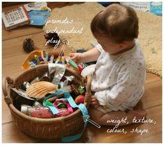 Sensory Treasure Basket - I'm making one for Autumn :)