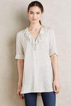 Minnie Blouse #anthropologie Nice hem and sleeve length. Cute ruffles. Versatile.