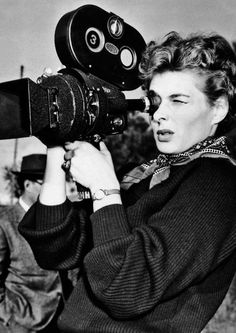 In our Tools of the Trade segment we have Ingrid Bergman on the set of We, the Women, 1953 holding an Arriflex 2C with a 400' mag! Amazing stuff!