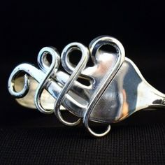 Fork Cuff Bracelet. Love the heart ones on the site!! Where are some garage sale forks to play with?