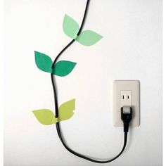 Transform your power plugs from eyesores to wall decor. #HomeHacks #LifeHacks…