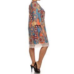 Moa Women's Plus Size Abstract Print Midi Dress