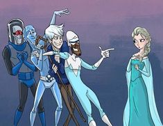 Jack Frost is Elsa and Anna's uncle cuz jacks little sister is Elsa and Anna's mom. So don't be making pins that have Elsa and Jack Frost being boyfriend and girlfriend cuz they are related! Disney Pixar, Disney Memes, Humour Disney, Film Disney, Disney And Dreamworks, Disney Magic, Disney Art, Disney High, Punk Disney