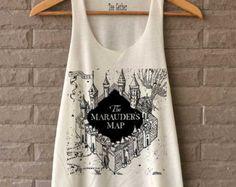 The Marauder's Map Shirt Harry Potter Shirts Tank Top  Women Size  S M L