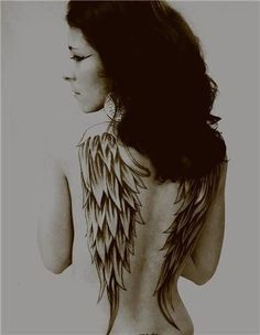 Wings tattoo. I like this idea but id maybe get demon wings instead
