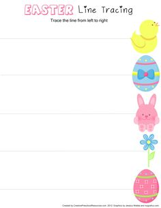 * Easter Tracing straight line.  1-2
