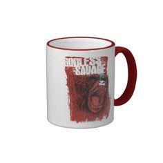 Godless Savage Ringer Coffee Mug