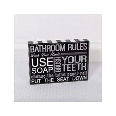 Found it at Wayfair - Bathroom Rules Sign Wall Décor