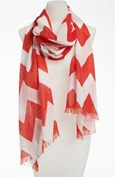 kate spade new york 'chevron stripe' scarf