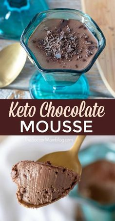 Decadent Keto Chocolate Mousse (w/ Recipe Video) This Keto Chocolate Mousse is unbelievably rich and decadent — and it fits right in to a keto diet or low carb lifestyle! Chocolate Low Carb, Keto Chocolate Mousse, Chocolate Recipes, Chocolate Videos, Chocolate Chocolate, Chocolate Lovers, Ketogenic Diet, Vegan Keto Diet, Stevia