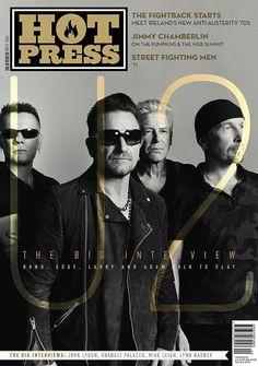 U2 en la portada de la revista Hot Press (noviembre 2014)