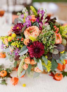 Fall Wedding by Kate Headley and Atrendy Wedding | Southern Weddings