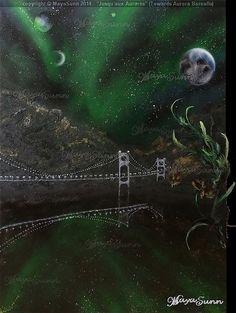 """ Jusqu'aux Aurores "" (Towards Aurora Borealis ) - MayaSunn Aurora Borealis, Oeuvre D'art, Les Oeuvres, Northern Lights, Gallery, Nature, Movie Posters, Naturaleza, Northen Lights"