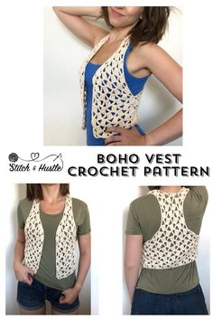 Let's Be Vesties With This New BoHo Chic Exclusive Crochet Pattern & Kit — Stitch & Hustle
