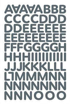 "Alphabet Sticker ""Sophia"" – grau Alphabet Stickers, Stationery, Kpop, Lettering, Logos, How To Make, Magenta, Purple, Journal"