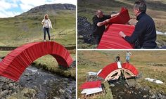 But would YOU walk over it? Lake District bridge made out of PAPER #DailyMail