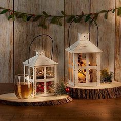 Our rustic lanterns come in a wide variety of sizes, styles and finishes. Shop and find the perfect ones for your design ideas. Lantern Centerpiece Wedding, Wedding Aisle Decorations, Wedding Lanterns, Table Decorations, Wedding Favors, Wedding Reception, Vintage Wedding Centerpieces, Winter Decorations, Ramadan Decorations