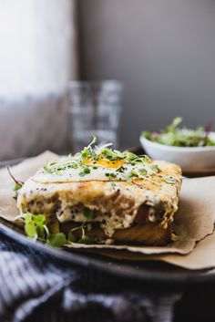Breakfast for dinner anyone? This Croque Madame is simple and quick to make (isn't a quick dinner the best?!) and it's rich flavors will leave you almost as happy as if it was Sunday brunch.