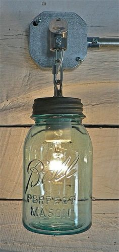 Mason Jar Sconces - 40 Rustic Home Decor Ideas You Can Build Yourself
