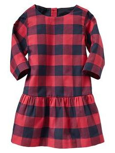 Checkered flannel dress - KK got for Lexi & Ava for Christmas Brunch to go with their black moto boots