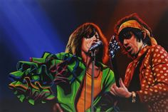 The Rolling Stones by Paul Meijering. Tight brushwork and powerful complimentary coloring capture the intensity of a single moment with The Rolling Stones. Read more about Paul's work here http://www.artofbrands.com/wo-en/news/introducing-paul-meijering