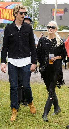 Poppy Delevingne | All The Celebrity Fashion At Glastonbury 2015