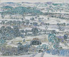 David Milne (Canadian, Boston Corners Landscape, Oil on canvas mounted on board, x cm. Canadian Painters, Canadian Artists, Landscape Art, Landscape Paintings, Landscapes, David Milne, Group Of Seven Art, Sculpture Projects, Paintings I Love