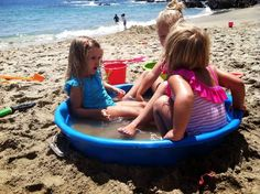 Toddler Beach Tips - inflatable baby pool at the beach. Keeps you from having to run to and from the water a bunch, and the water stays warmer!
