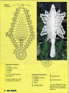 gwiazda na Stylowi.What do you expect from a crochet newsletter?Christmas on Stylowi. Lace Christmas Tree, Crochet Christmas Ornaments, Christmas Crochet Patterns, Holiday Crochet, Christmas Tree Toppers, Christmas Angels, Christmas Crafts, Christmas Decorations, Xmas