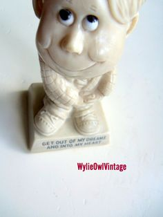 Vintage Russ Berrie Get Out Of My Dreams Statue by WylieOwlVintage, $7.50