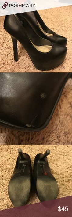 Chinese Laundry Black Heels Chinese Laundry Black Heels ! Good Condition small scratch on the inside of right heel shown on picture. Chinese Laundry Shoes Heels